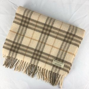 Authentic Burberry 100% Lambswool Scarf